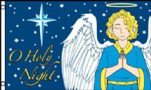 O Holy Night Christmas 5'x3' (150cm x 90cm) Flag